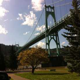 Photo of St Johns Bridge in Cathedral Park