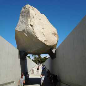 "Photo of Sculpture ""Levitated Mass"" in Mid Wilshire"