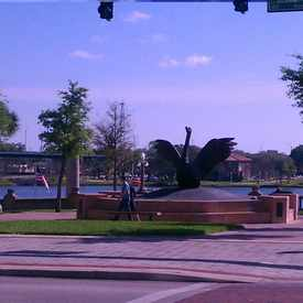 Photo of Swan Statue in Downtown