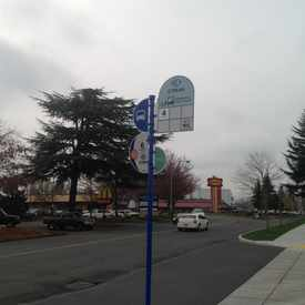 Photo of Local bus stop in front of Burlington Coat Factory in Hayden Island