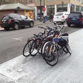 Photo of Street bike racks in Downtown