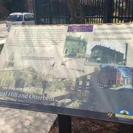 Photo of Otterbein Community sign/Gwynns Falls History in Otterbein