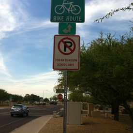 Photo of Bike Route Sign  in Alta Mesa