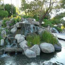 Photo of Waterfall at Val Vista Lakes Clubhouse in Val Vista Lakes
