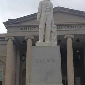 Photo of Lincoln Statue in Judiciary Square