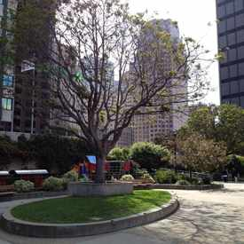 Photo of St Mary's Square in Chinatown