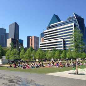 Photo of Klyde Warren Park in Arts District