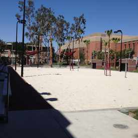 Photo of USC Beach Volleyball Court in South Los Angeles