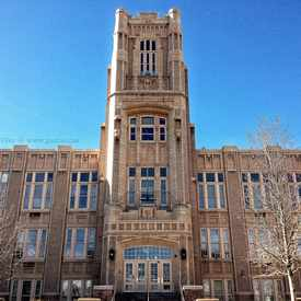 Photo of The New Denver West High School in Lincoln Park