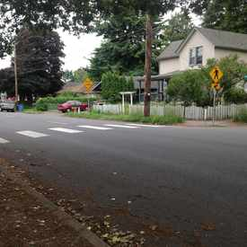 Photo of Pedestrian Friendly Cross Walk in Hough