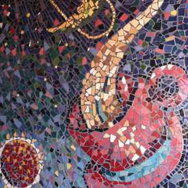 Photo of Outdoor Mosaic at Satellite Coffee Nob Hill in Nob Hill