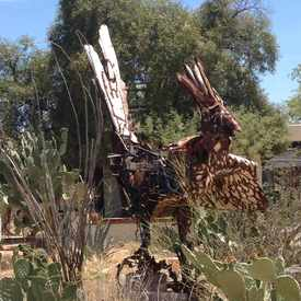Photo of Roadrunner Sculpture in Limberlost