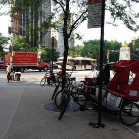Photo of Pedicabs at Columbus Circle in Midtown