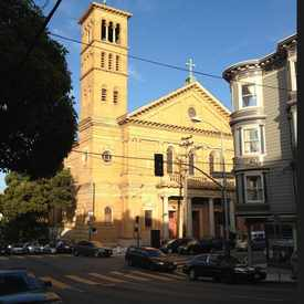 Photo of Fillmore street church in Western Addition