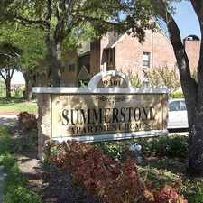 Rental info for Summerstone Apartments in the Houston area