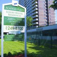Rental info for Academy Place Apartments in the Mississauga area