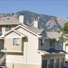 Rental info for Brookside in the Boulder area