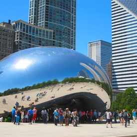 Photo of Cloud Gate at Millenium Park in The Loop, Chicago