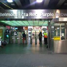Photo of Belmont & Sheffield (Red/Brown/Purple Line) in Lake View, Chicago