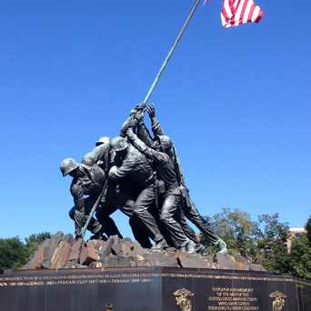 Photo of US Marine Corps War Memorial in Radnor/Ft Myer Heights, Arlington