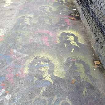 Photo of Stencil On Overpass in Allston, Boston