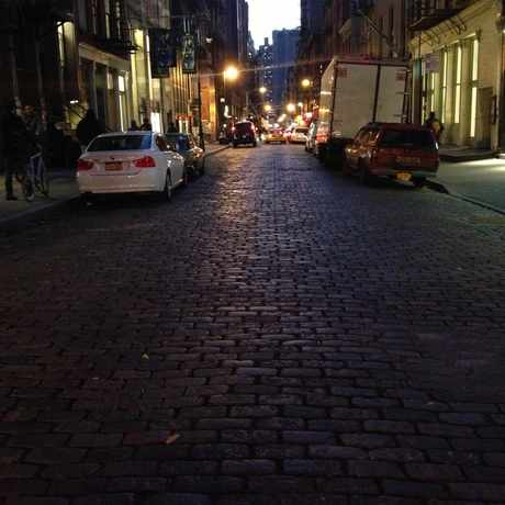 Photo of Cobblestone Street in SoHo, New York