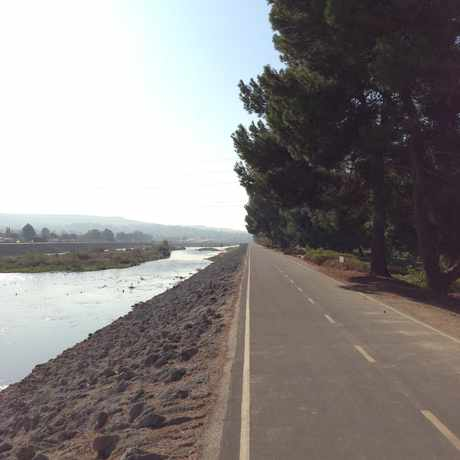 Photo of Santa Ana River Bed Bike Trail in Northeast Anaheim, Anaheim
