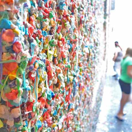Photo of Pike Place Market Gum Wall in Downtown, Seattle