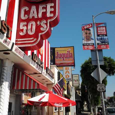Photo of Cafe 50'S, Santa Monica Boulevard, Los Angeles, CA in Sawtelle, Los Angeles