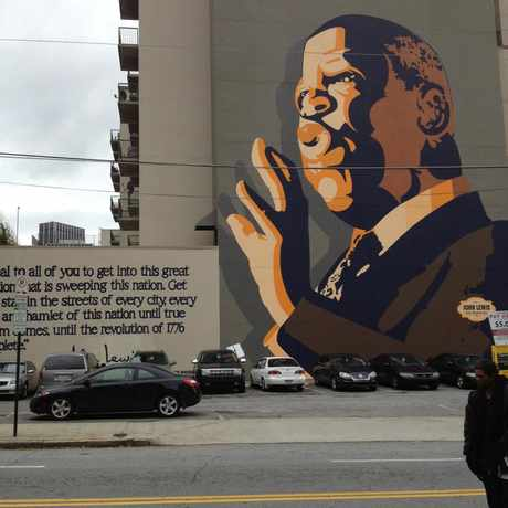 Photo of John Lewis Wall Mural in Downtown, Atlanta