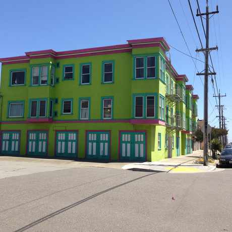 Photo of Colorful Buildings in the Outer Sunset in Outer Sunset, San Francisco