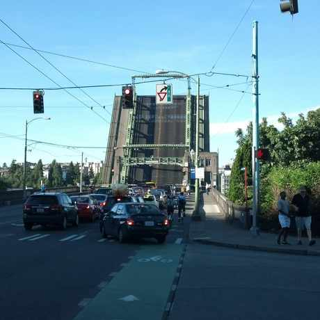 Photo of University Bridge in Portage Bay, Seattle
