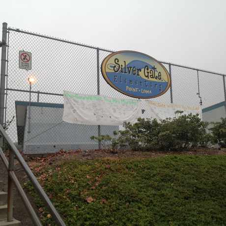Photo of Silver Gate Elementary School in Point Loma Heights, San Diego