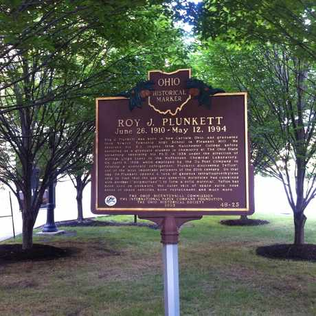 Photo of Roy J. Plunkett Historical Marker in The Ohio State University, Columbus