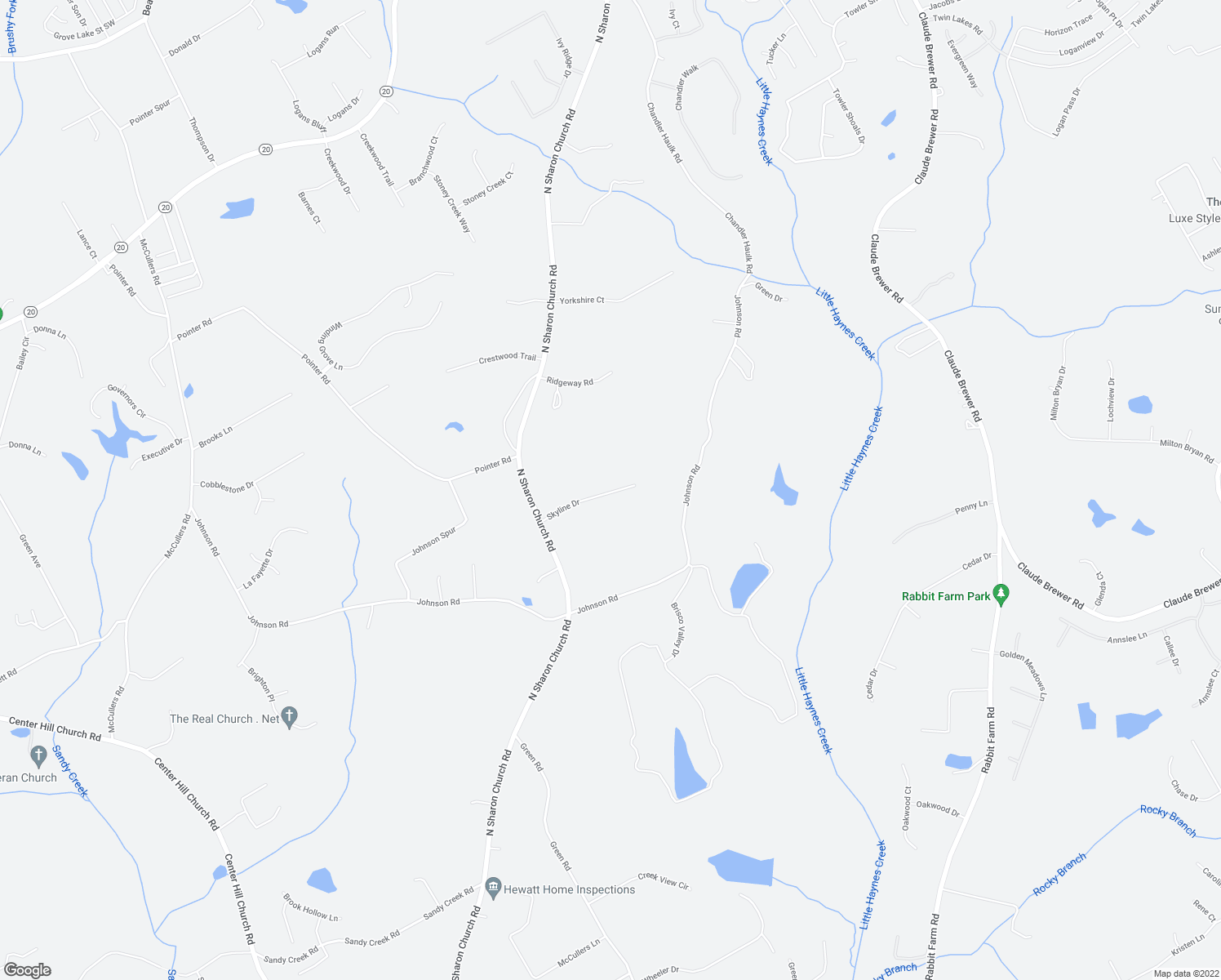 map of restaurants, bars, coffee shops, grocery stores, and more near in Loganville