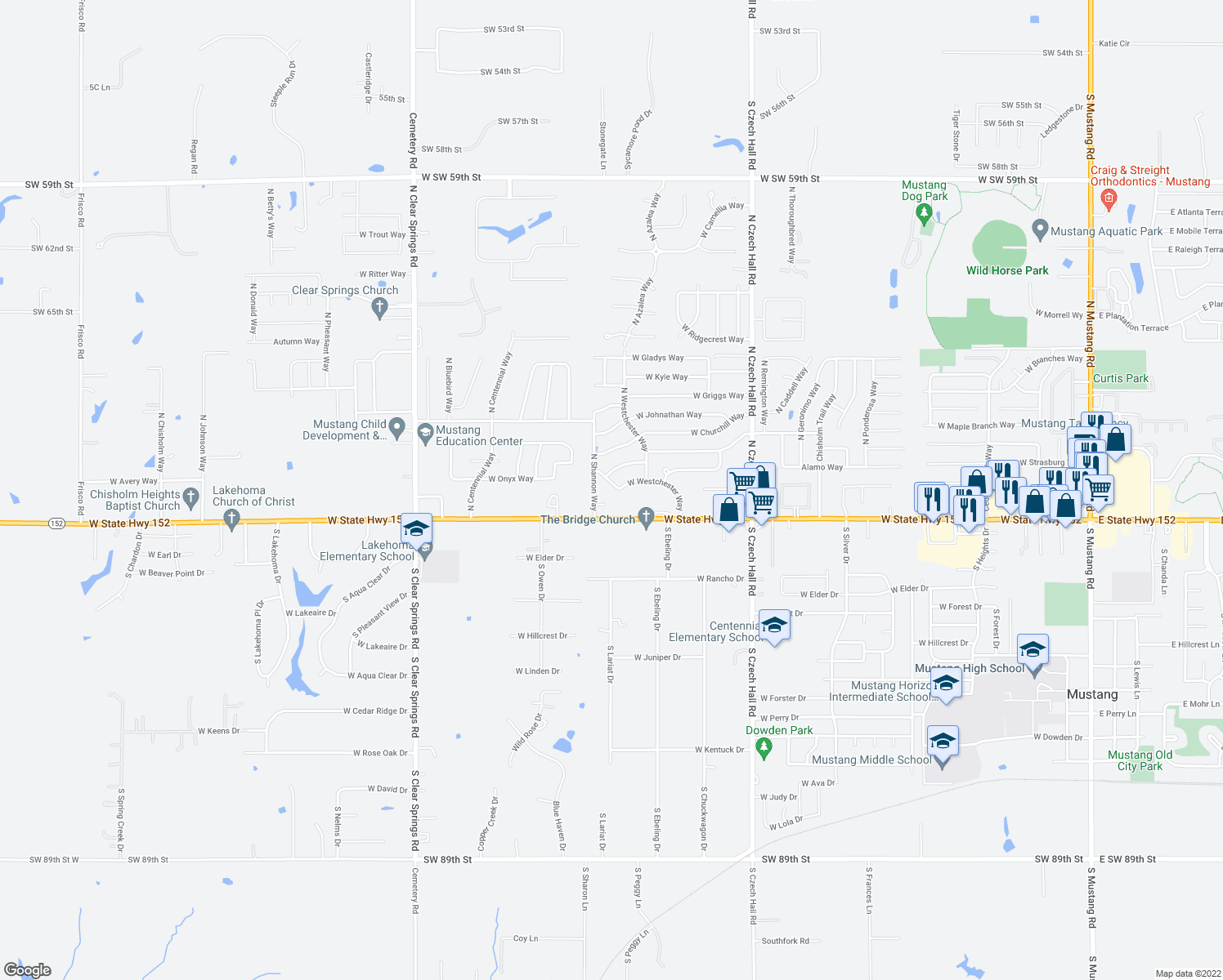 map of restaurants, bars, coffee shops, grocery stores, and more ne