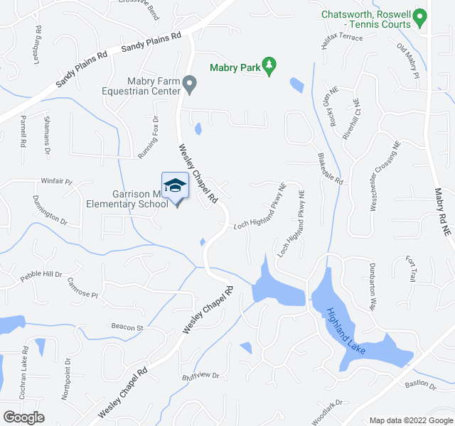 map of restaurants, bars, coffee shops, grocery stores, and more near 4063-4111 Wesley Chapel Rd in Marietta