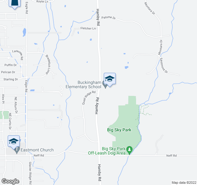 map of restaurants, bars, coffee shops, grocery stores, and more near 62560 Hamby Rd in Bend