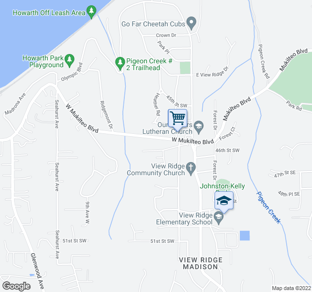 map of restaurants, bars, coffee shops, grocery stores, and more near 505 Wood Pl in Everett