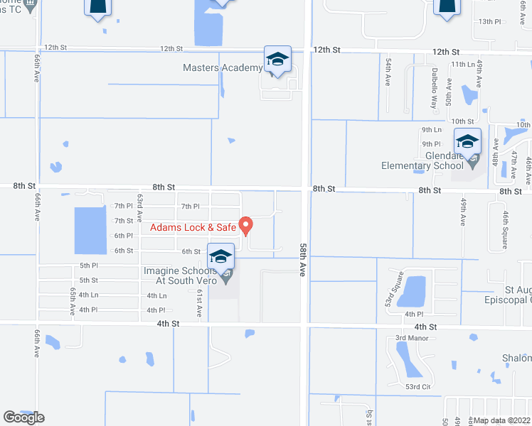 map of restaurants, bars, coffee shops, grocery stores, and more near 754 Carriage Lake Way in Vero Beach