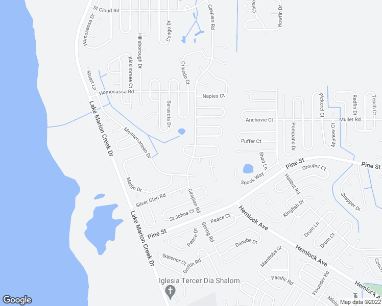 map of restaurants, bars, coffee shops, grocery stores, and more near Caspian Rd in Kissimmee