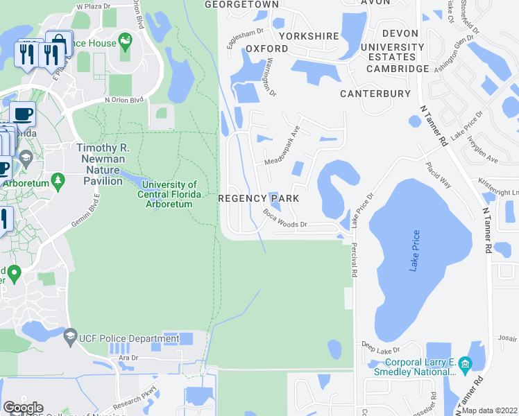 map of restaurants, bars, coffee shops, grocery stores, and more near 4005 Forest Island Dr in Orlando