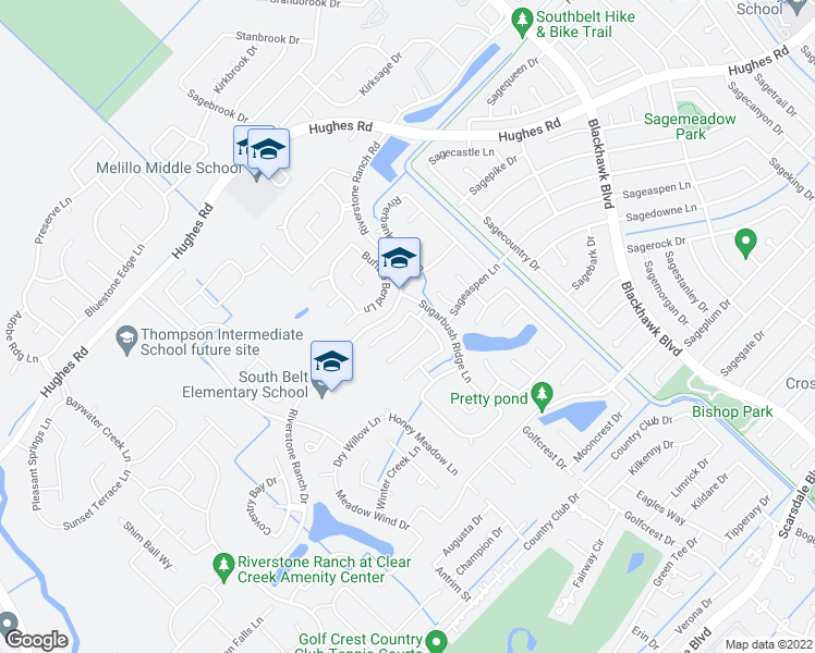 map of restaurants, bars, coffee shops, grocery stores, and more near 9327 Arrowhead Trace Ln in Houston