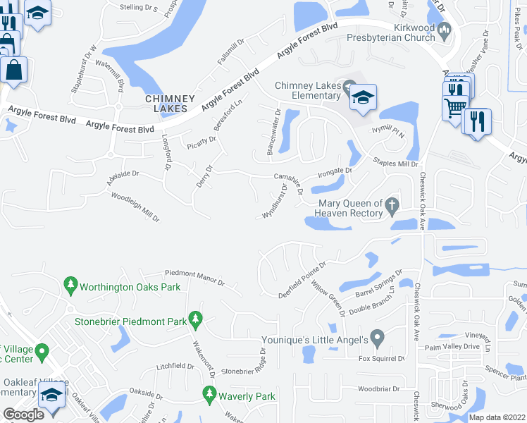 map of restaurants, bars, coffee shops, grocery stores, and more near 8572 Catsby Court in Jacksonville