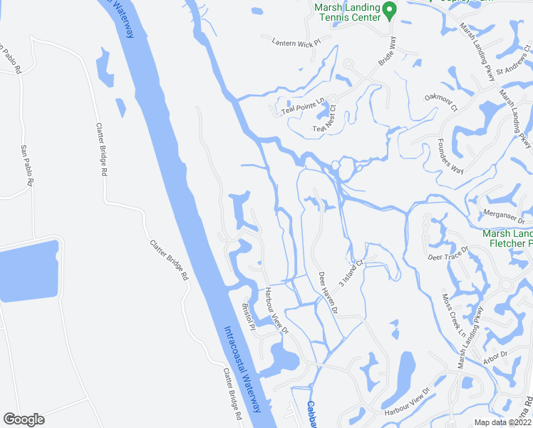 map of restaurants, bars, coffee shops, grocery stores, and more near 112 Newport Lane in Ponte Vedra