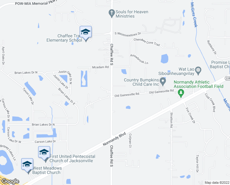 map of restaurants, bars, coffee shops, grocery stores, and more near 11133 Old Gainesville Road in Jacksonville