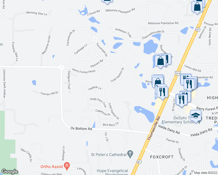 map of restaurants, bars, coffee shops, grocery stores, and more near in Tallahassee