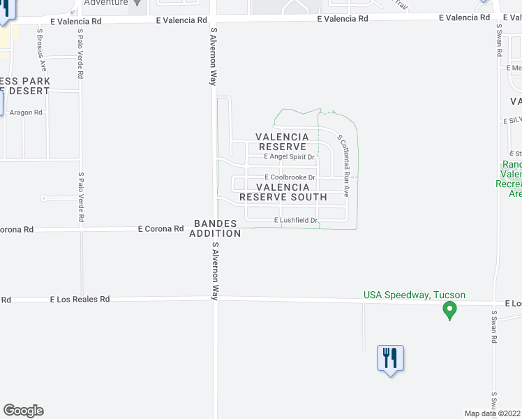 map of restaurants, bars, coffee shops, grocery stores, and more near 4018 E SHADOW BRANCH Dr in Tucson