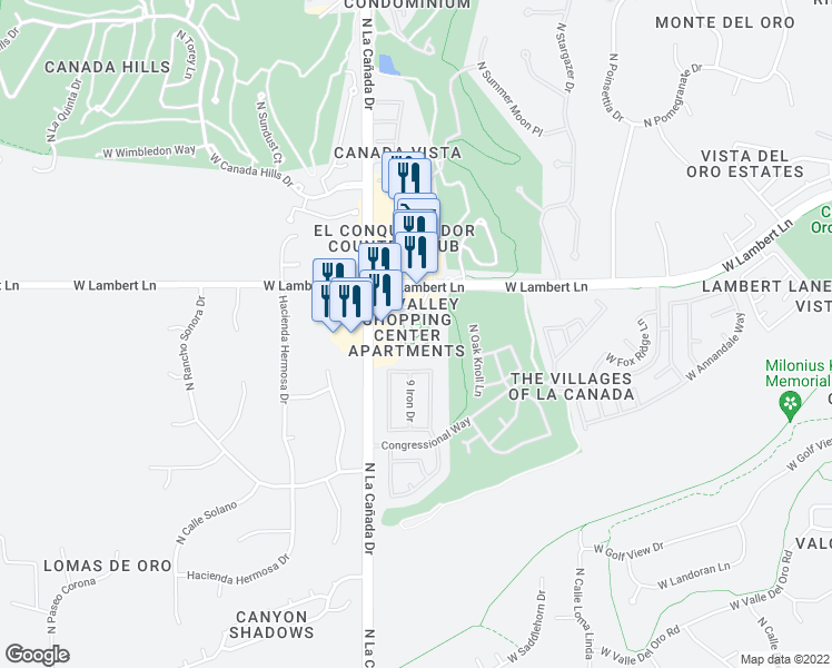 map of restaurants, bars, coffee shops, grocery stores, and more near 1301 W Lambert Ln in Tucson