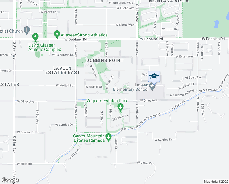 map of restaurants, bars, coffee shops, grocery stores, and more near 4412 W Summerside Rd in Phoenix